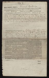 Edward Partridge consecration deed