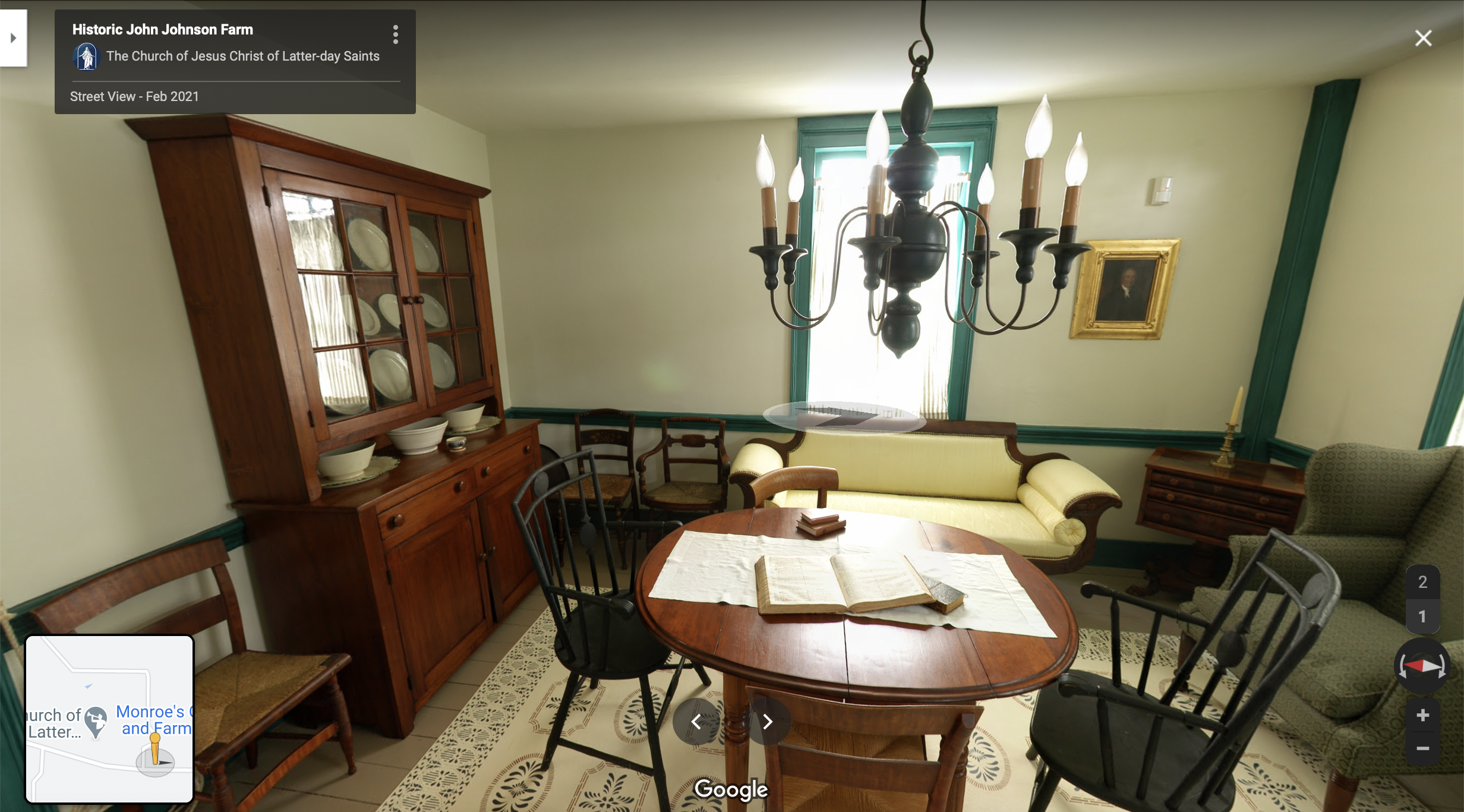 Screenshot of the Google Maps 360 view of the Johnson Home