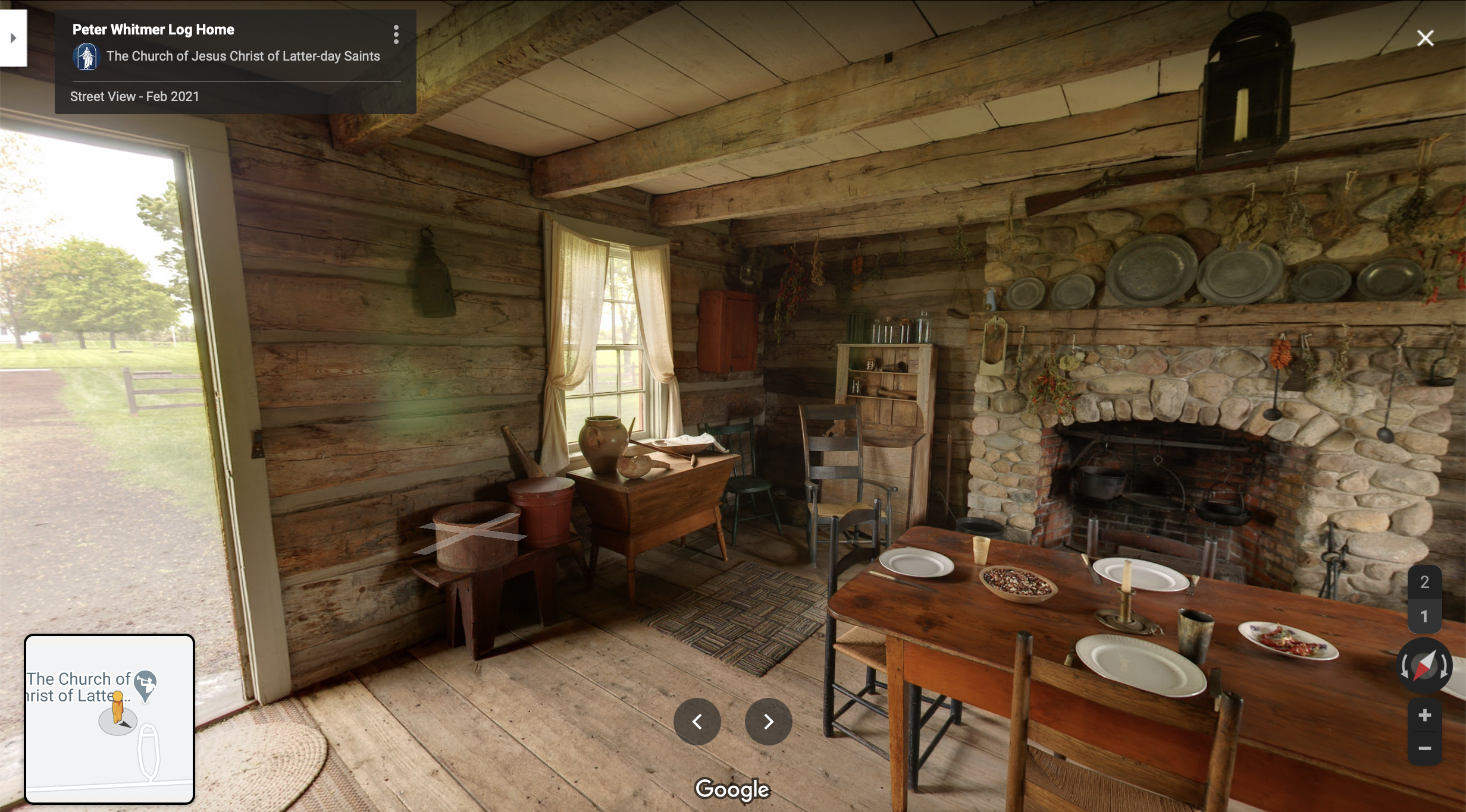 Screenshot of a 360 image of the Whitmer Home from Google Maps