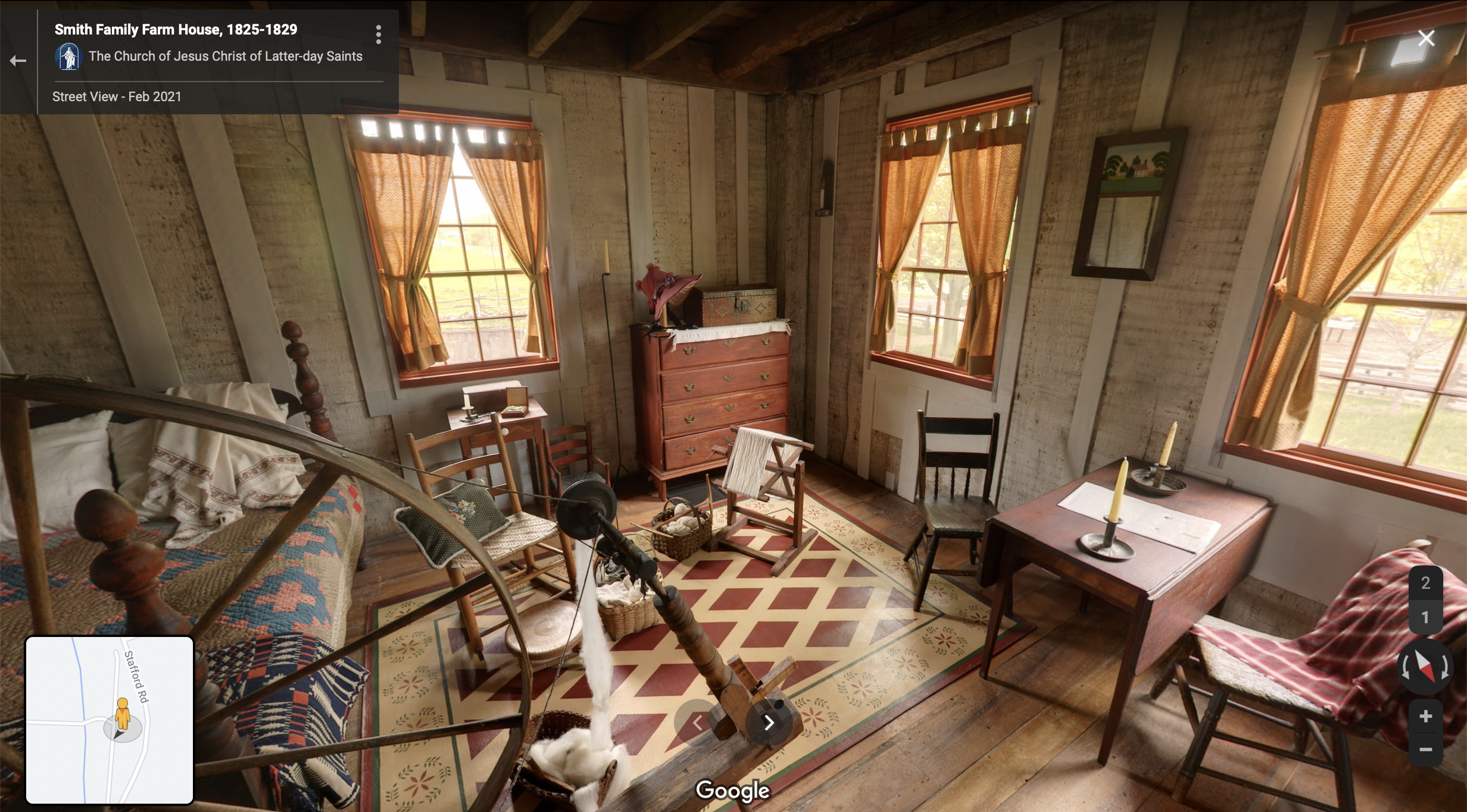 Screenshot of the Google Maps 360 view of the Smith Frame Home