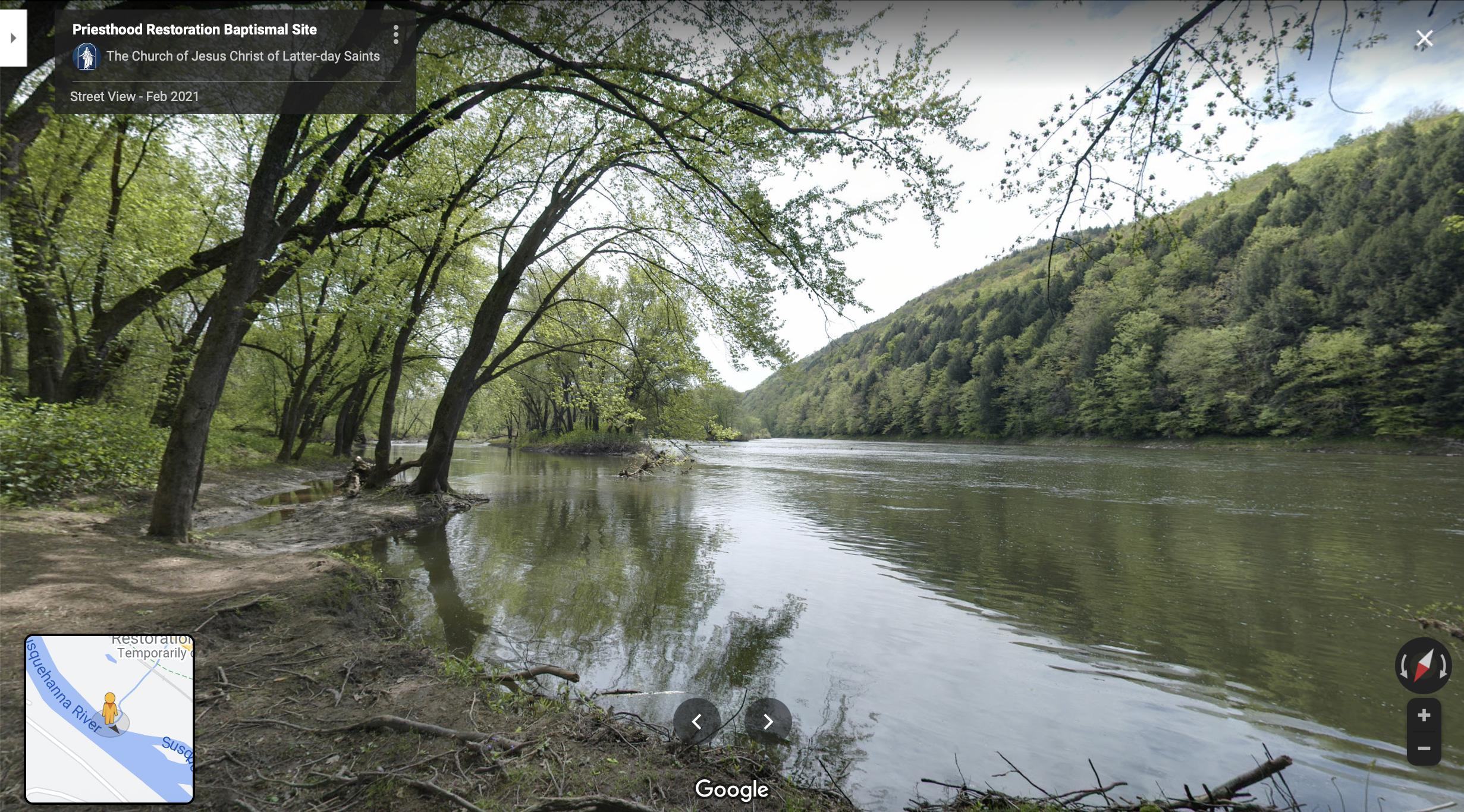 Screenshot of the Google Maps 360 view of Susquehanna River