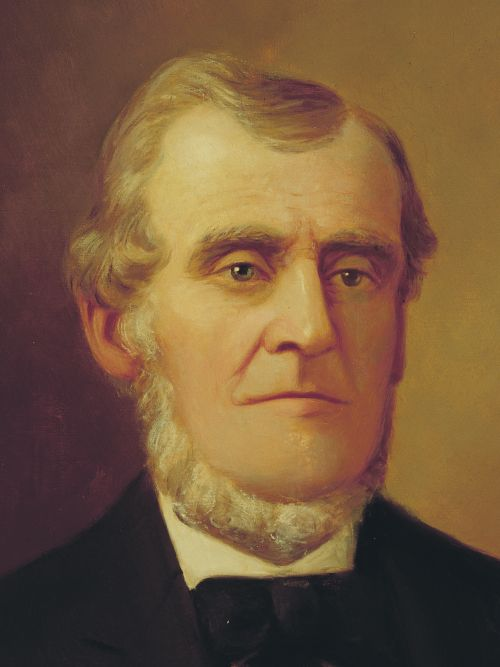 A portrait of Martin Harris.