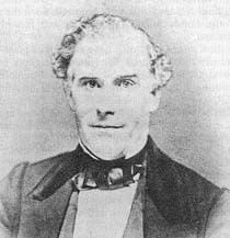 A black-and-white image of Orson Pratt. He has what looks like blond hair and wears a dark coat, dark cravat, white shirt, and light-colored vest.