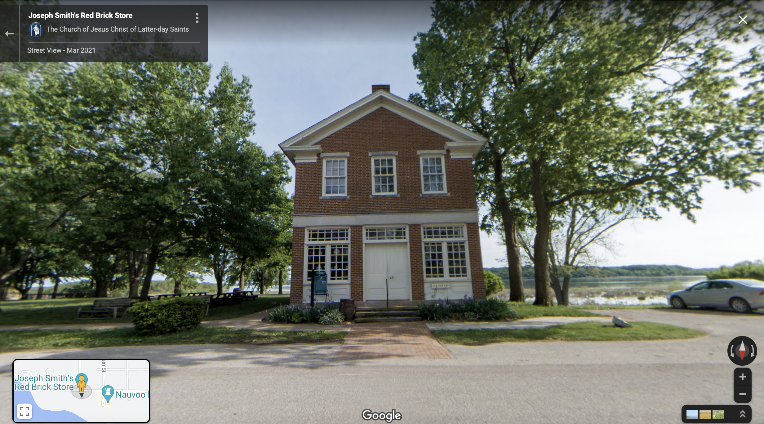 Screenshot of the Google Maps 360 view of the Red Brick Store